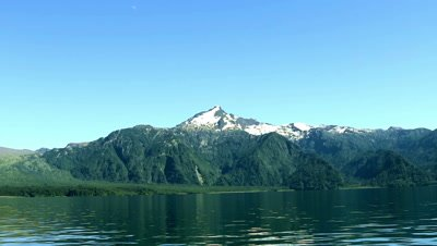 Real time view of the lake district in Argentina near Bariloche