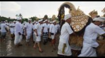 Balinese Hindu Ceremony Procession