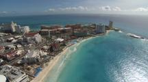 Aerial Cancun, Resorts On Peninsula