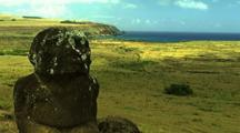 Moai Statue With Ocean Background