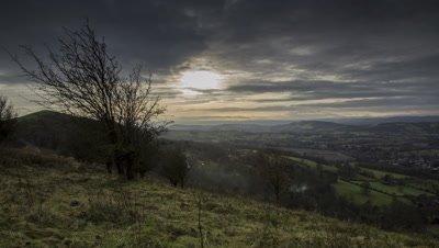 Clouds over Malvern hills