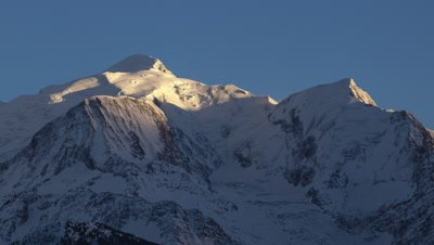 Sunset over Mont Blanc in the French Alps
