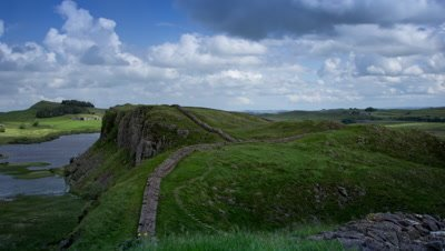 The view from near Steel Rigg of Hadrians Wall.