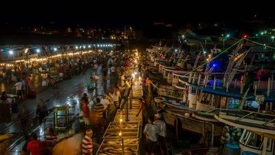 Fish market at dawn