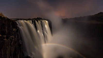 Wide angle shot, double moonbow rise, main falls cataract island