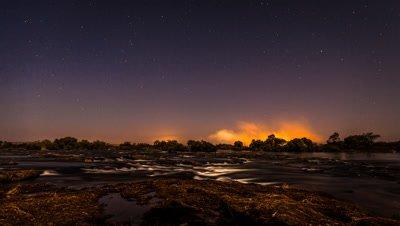 Zambezi River, Victoria falls Spray View, Night-sky