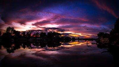 Sunrise Upper Zambezi, unusual colours