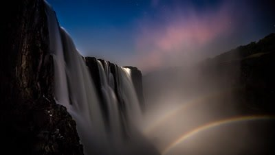 Double moon bow rise main falls cataract island