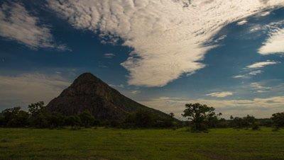 Dark to light night sky, Tsodillo Hills