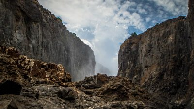 Thunder storm build up, bottom of the falls, Batoka gorge