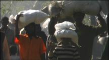 Cyclone Refugees With Relief Supplies