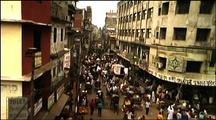 Pan Down Onto Street Life