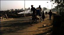 Dhaka Street With Human Traffic