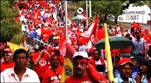 Marching For Hugo Chavez