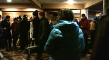 American Birkebeiner, Pre Race Crowd, Food Set Up In Warming House, Lodge