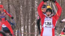 American Birkebeiner, Tired, Exhuberant Skiers Topping Hill, Coming Down