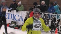 American Birkebeiner,Tired Skier Finishing Race In Below Zero Temperatures, Frostbite