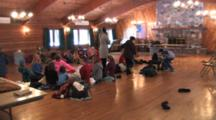 Children Gathered In Lodge, Playing Group Games