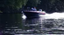 Evening Boaters On River, Coming Tc, Past