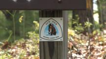 Ice Age National Scenic Trail, Path Marker And Gate To Trail