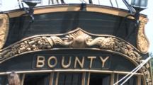 Hms Bounty, Tall Masted Sailing Ship Anchored In Harbor