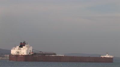 Iron Ore Boat,Duluth Harbor,Lake Superior Shipping,Zoom to WA