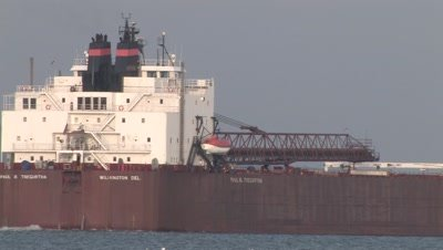 Iron Ore Boat,Passing in Harbor,Duluth,Minnesota,Lake Superior Shipping