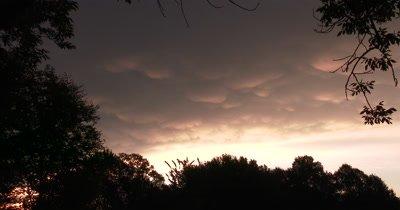 Cumulonimbus Clouds with Mammatus,Rainbow Hued,Indicator of Hail,Turbulence