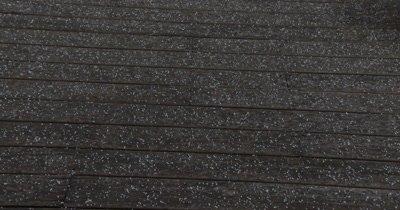 Hail, Snow Groppel Falling on Boardwalk