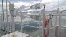 Antarctic Scenery Through Icebreaker Railings. Anvoord Bay, Neko Harbour