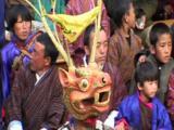 Cu Mask Front On. Ceremonial Dance. Tibet