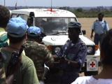 Red Cross Workers And Princess Diana Arriving At Huambo Aiport, Angola