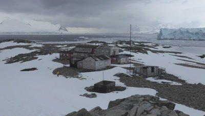 View of British Base at Stonington Island, Ross Island, Antarctica