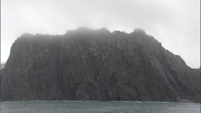 Scenic Elephant Island, sea birds seen on the outcrops