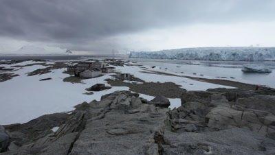 View of British Base at Stonington Island, Antarctic Peninsula, Antarctica