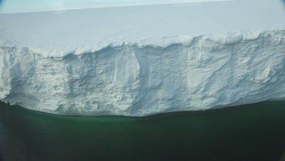 Aerial Ross Ice shelf track, Ross Sea, Antarctica