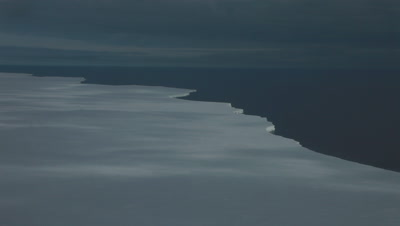 Aerial Ross Ice shelf, Ross Sea, Antarctica