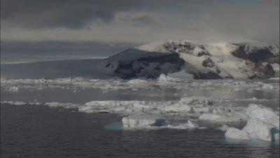 Scenic, Northeast Antarctic Peninsula with icebergs and sea ice