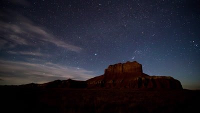 Night Scape Time Lapse of Utah Landscape