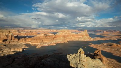 Time Lapse Overlooking Lake Powell from Alstrom Point