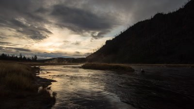 Sunrise Time Lapse on the Madison River, Yellowstone.