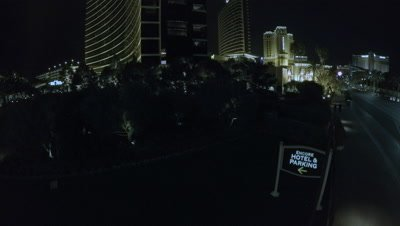 Aerial footage from Las Vegas at Night