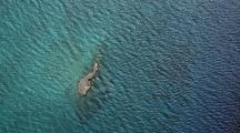 Aerial Tropical Rocky Island