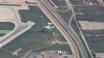 Aerial Aircraft Landing Chicago O'hare Airport