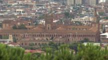 Establishment Shot Of Barcelona City Spain