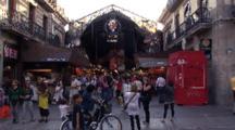 Barcelona City Market Entrance, Mercat De La Bocat/Mercat De Sant Joseph