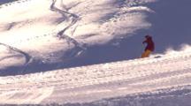 Snowboarding Big Perfect Jump