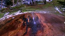 Thermal Activity, Stream With Water Bubbling Out Of Rock Next To Stream, Snow On Trees