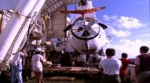 Titanic Excursion Preparations - Mir Docked In Hanger On Keldysh