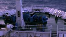 Titanic Excursion Preparations - Keldysh Topside With High Seas, Waves
